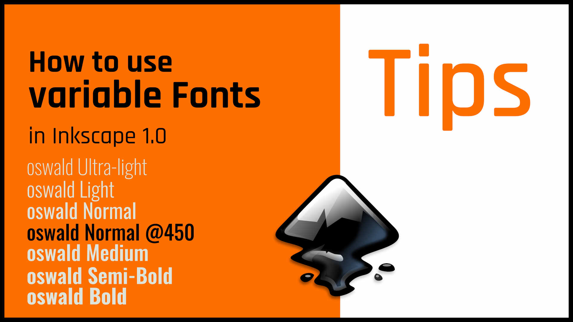 How to use Variable Fonts in Inkscape 1.0 in few steps